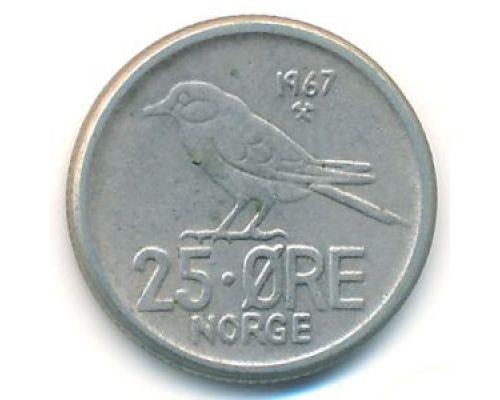 25 эре 1967 год Норвегия Птица