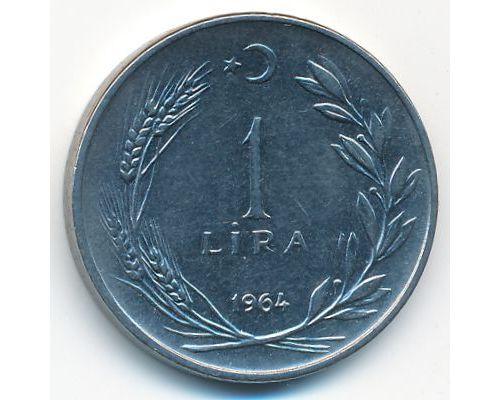 1 лира 1964 год Турция