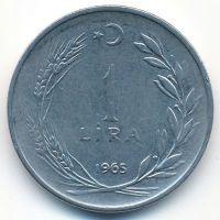 1 лира 1965 год Турция