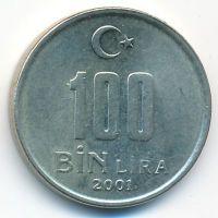 100000 лир 2001 год Турция (100 бин лир)