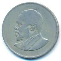 1 шиллинг 1967 год Кения Джомо Кениата