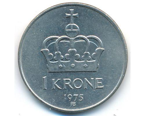 1 крона 1975 год Норвегия