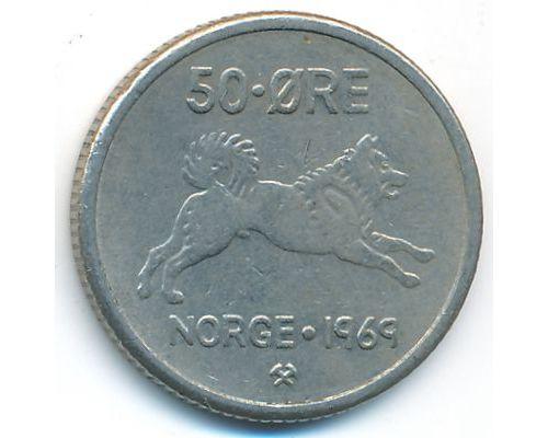 50 эре 1969 год Норвегия Собака
