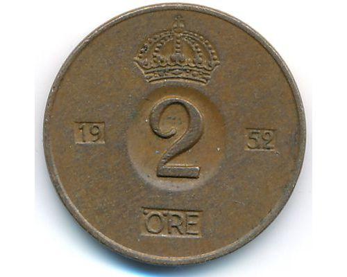 2 эре 1952 год Швеция