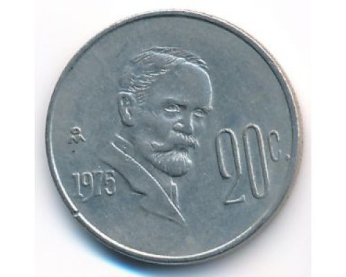 20 сентаво 1975 год Мексика