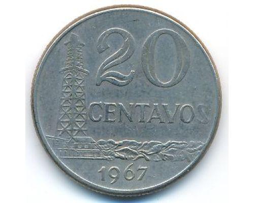 20 сентаво 1967 год Бразилия