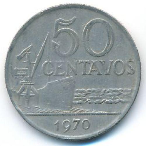 50 сентаво 1970 год Бразилия