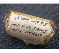 5 франков 1988 год Бельгия РОЛЛ 20 монет 10хVlaams 10xFrans