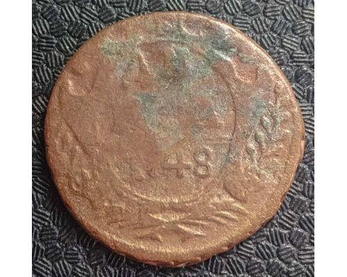 Деньга 1748 год Елизавета Денга Царская Россия №3
