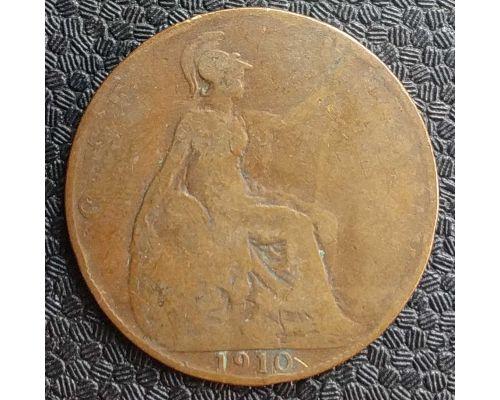 1 пенни 1910 год Великобритания Эдвард VII
