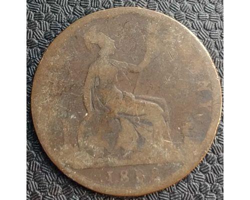 1 пенни 1888 год Великобритания one penny Королева Виктория
