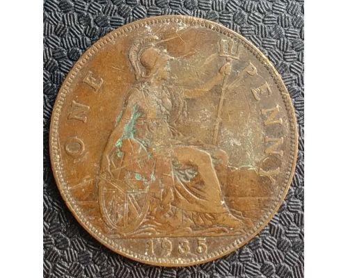 1 пенни 1935 год Великобритания №2