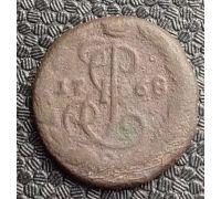 Деньга 1768 год ЕМ Екатерина 2 Царская Россия (денга)