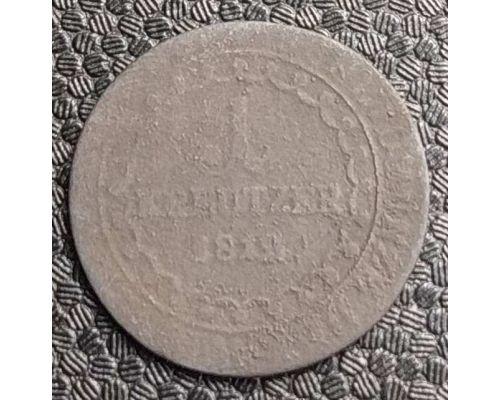 1 крейцер 1812 год Австрия S