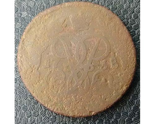 2 копейки 1758 год Елизавета Царская Россия