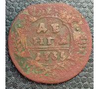Деньга 1735 год Анна Иоанновна Денга Царская Россия