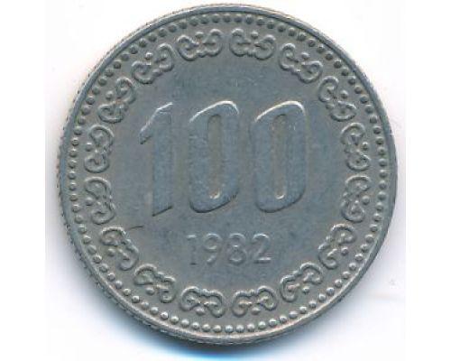 100 вон 1982 год Южная Корея