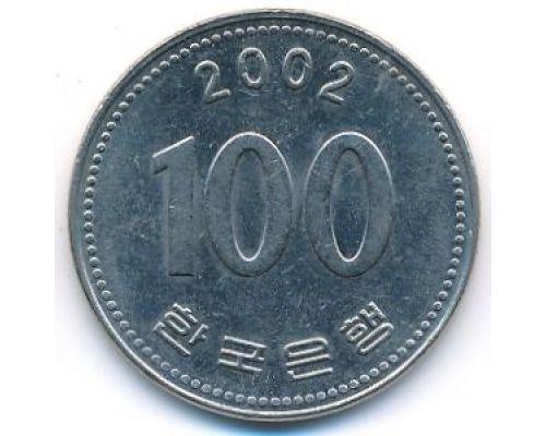 100 вон 2002 год Южная Корея