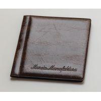 Альбом для монет Marcia карманный (8 листов на 52 монеты МИКС) коричневый