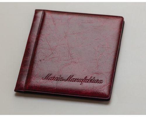 Альбом для монет Marcia карманный (8 листов на 52 монеты МИКС) красный