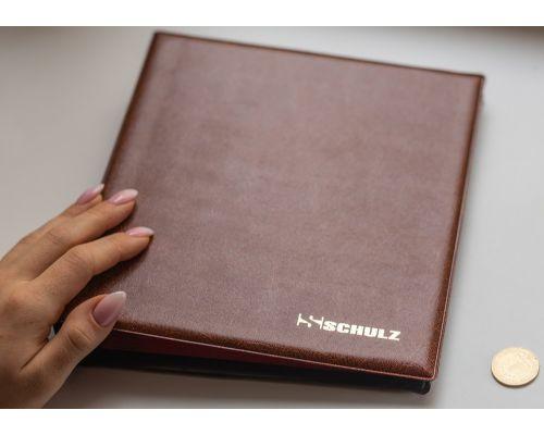 Альбом для монет SCHULZ (10 листов на 221 монету) коричневый