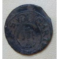 1 солид 1632-1654 Ливония Швеция Кристина Ваза №5
