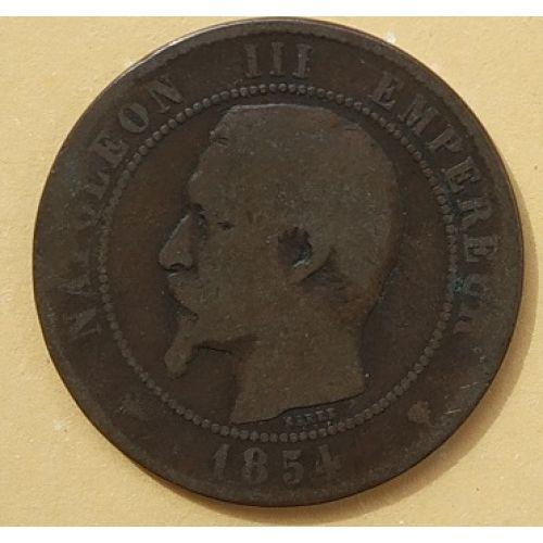 10 сентим 1854 год Франция (сантим) Наполеон III - Марсель