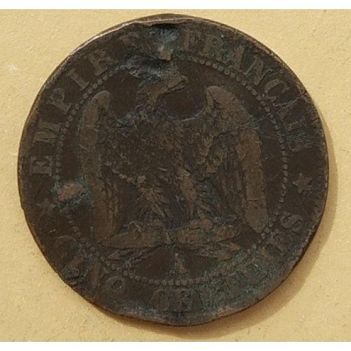 5 сентим 1855 год A Франция (сантим) Наполеон III