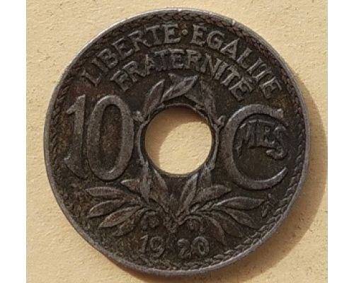 10 сентим 1920 год Франция (сантим)