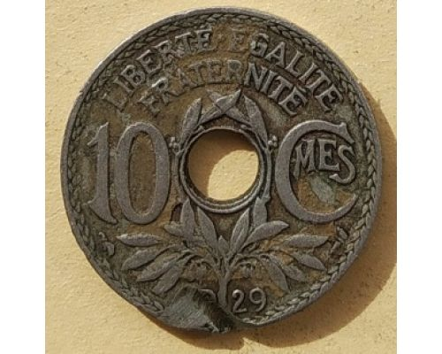 10 сентим 1929 год Франция (сантим)