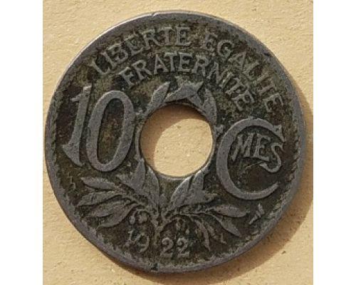 10 сентим 1922 год Франция (сантим)