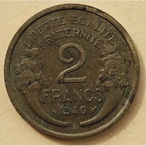 2 франка 1940 год. Франция
