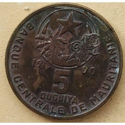 5 угий 1990 год Мавритания