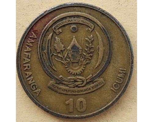 10 франков 2003 год Руанда
