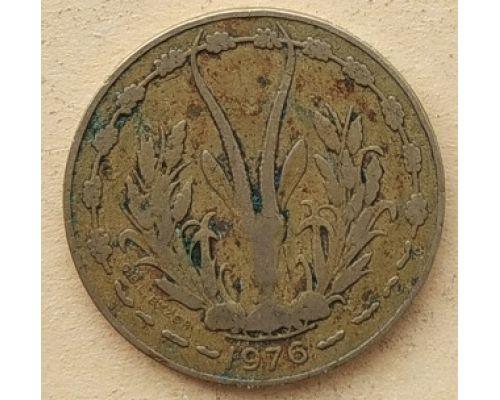 10 франков 1976 год Западная Африка Газель