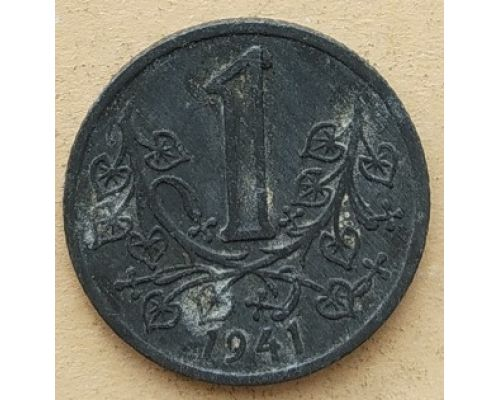 1 крона 1941 год Богемия и Моравия