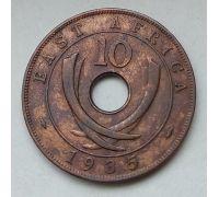 10 центов 1935 год Восточная Африка Георг V