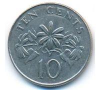 10 центов 1993 год Сингапур